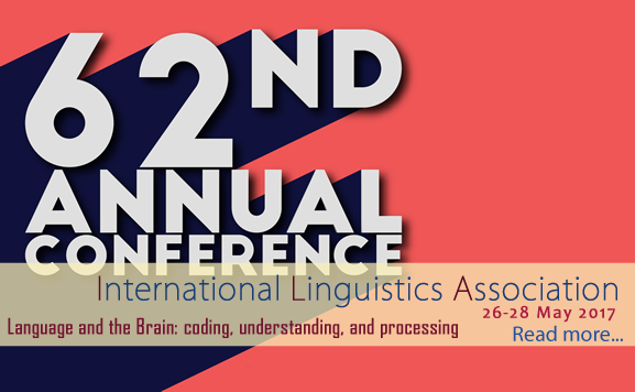 62nd Annual Conference of the International Linguistic Association